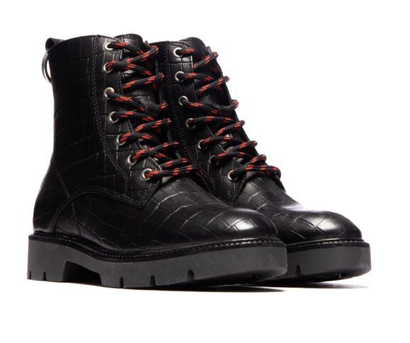 Never worn L'intervalle Leather Combat Boots (Size 36)