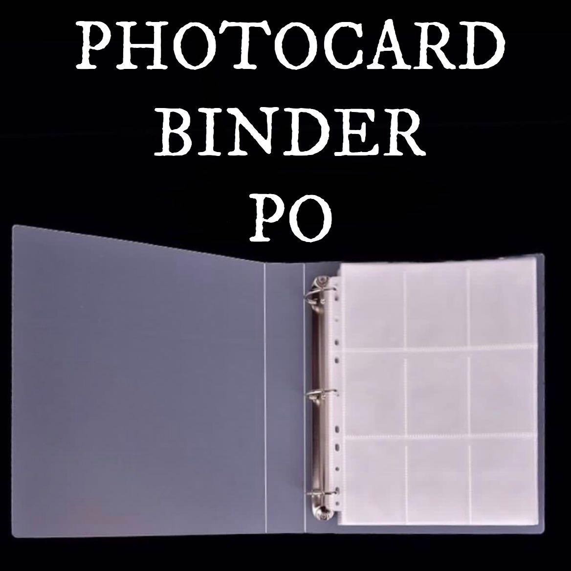 [PO] PHOTOCARD 3 RINGS BINDER WITH 30 PAGES OF 9 POCKETS SLEEVE KPOP PHOTOCARD BTS