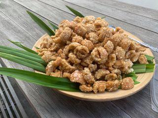 The delicious Pork skin thai style keto