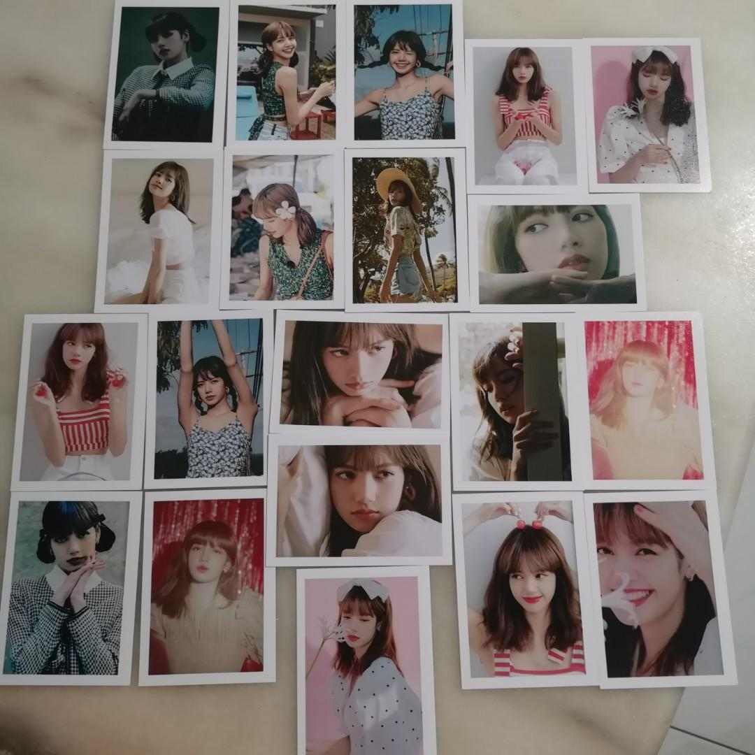 【WTS】Blackpink Lisa Lomo Card (SUMMER DIARY IN HAWAII+2020 WELCOMING COLLECTION)
