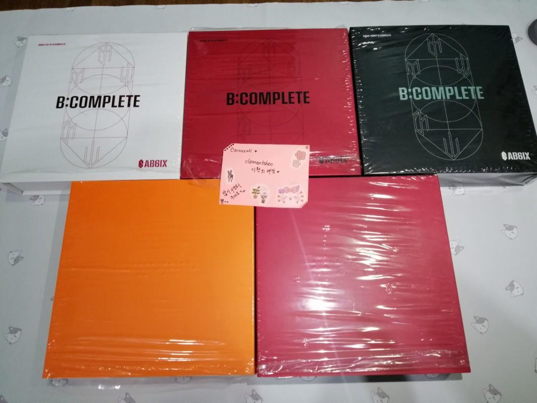 [5ALBUMS][FREE POSTAGE] AB6IX 1ST MINI ALBUM B:COMPLETE (3TYPES) + 1ST ALBUM 6IXENSE)(2TYPES)