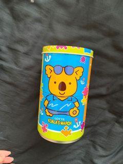 樂天小熊餅乾 無尾熊餅乾 馬口鐵罐 鐵盒