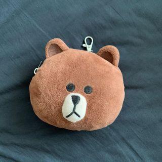 熊大 line friends 伸縮票卡夾