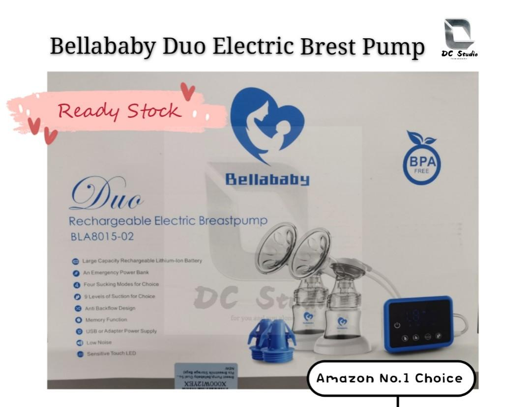 Bellababy Rechargeable Double Electric Breast Pump Pain Free Strong Suction