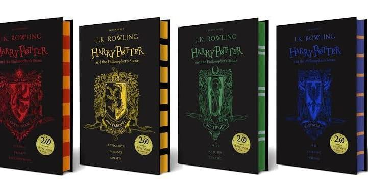 Harry Potter and the Philosopher's Stone 20th Anniversary House Edition Book Hardbound