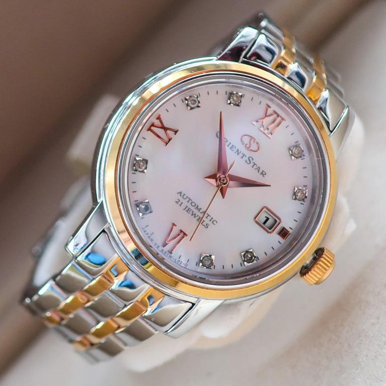 Orient Star Big Diamonds Automatic - Mother-of-Pearl dial (compare Grand Seiko, Rolex Datejust, Omega Constellation Watch)