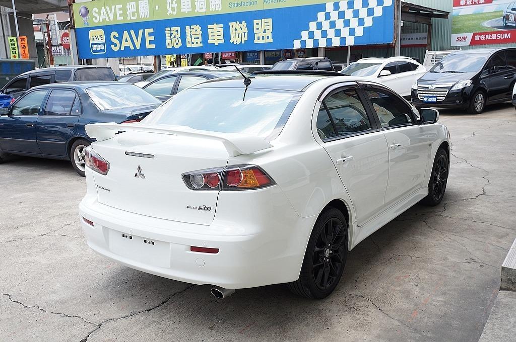 舜天車坊 Mitsubishi Lancer IO 2013年 最頂級 2.0 原廠尾翼+⼿⾃排+天窗 鯊⿂頭 實⾞實價