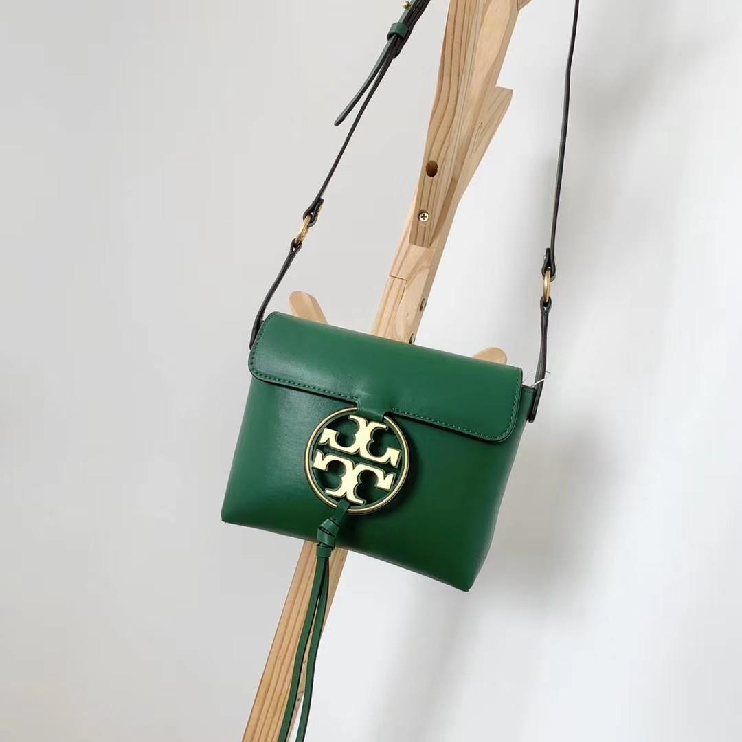Authentic Tory Burch Miller metal sling bag  Crossbody bag in green Raya promotion