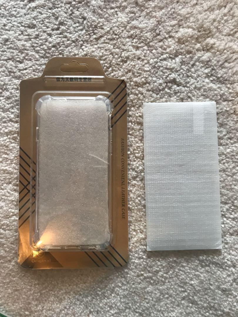 BNIB iPhone 6/7/8 clear case with screen protector