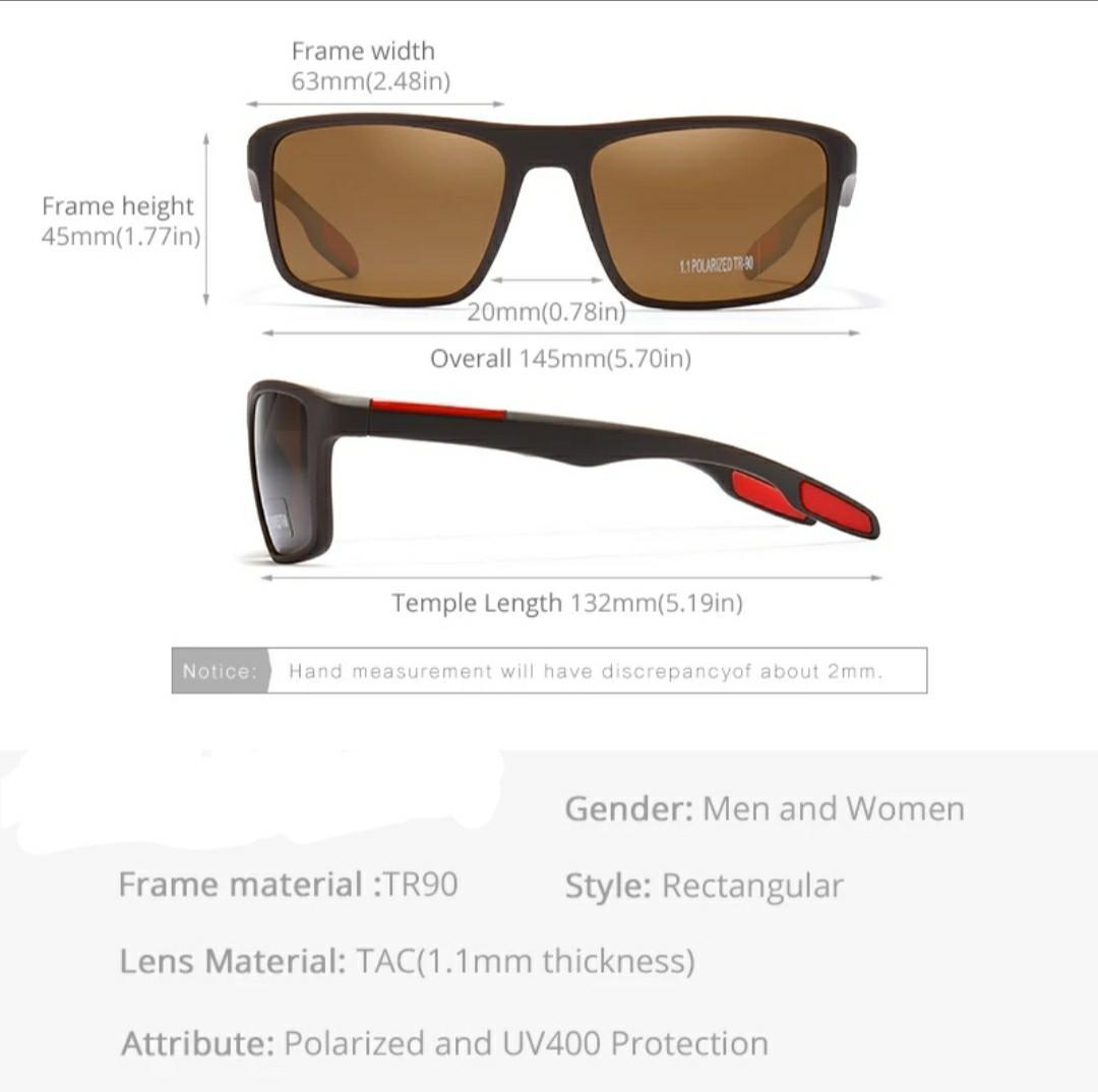 G460 Rectangular Ultra Light TR90 Sunglasses Men Polarized TAC 1.1mm Thickness Lens Driving Sun Glasses Women Sports Cat.3