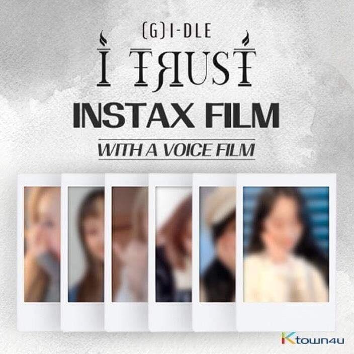 💖(G)I-DLE💖 (G)I-DLE X LIPSS [I TRUST JACKET BEHIND CUT] INSTAX Film Member Set