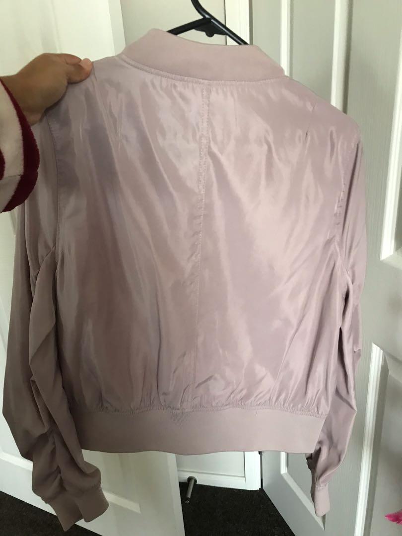 Mauve Bomber jacket size 12