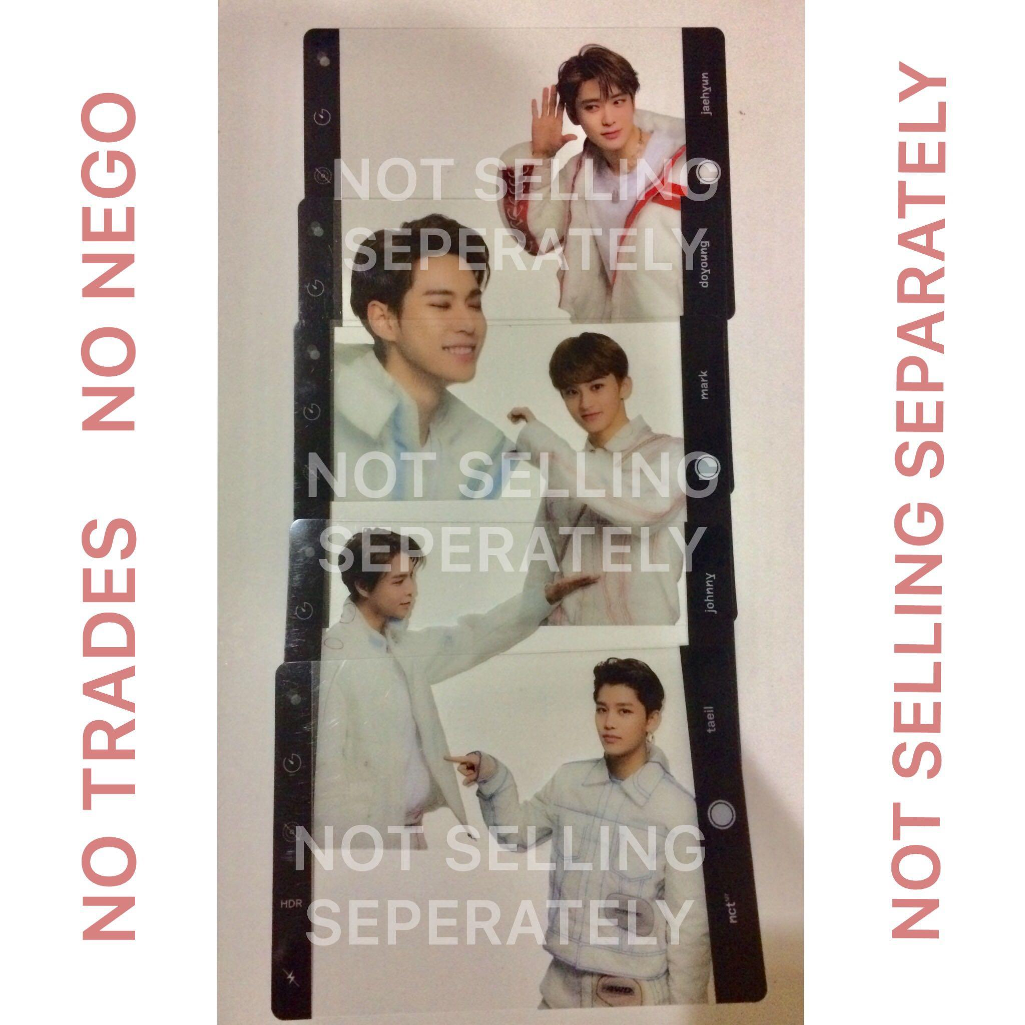 NCT 127 Neo City clear frame Set TAEIL JOHNNY MARK DOYOUNG JAEHYUN