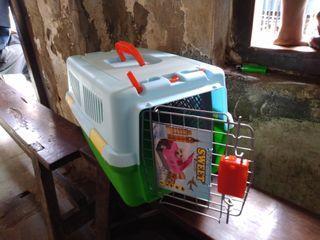 Pet cargo kandang tenteng plastik free ongkir bayar ditempat