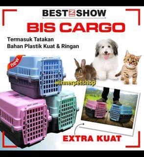 Petcargo kandang plastik kucing best on show free ongkir bayar ditempat