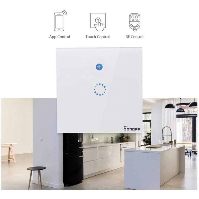 Sonoff T1 Smart Light Switch Wifi Touch Wall Light