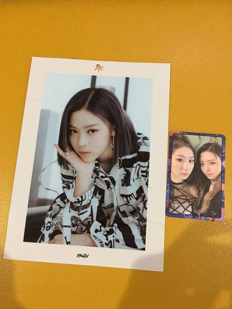 WTT ITZY Ryujin cover photo & ChaeYuna unit photocard