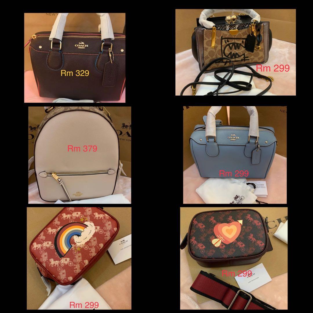 (100520)Ready Stock authentic coach women bag sling bag crossbody Tory Burch belt bag wallet clutch card holder lanyard