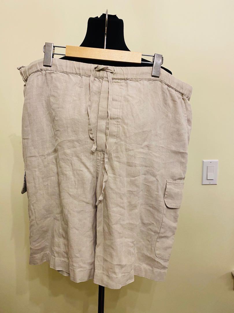 100% linen shorts Mark Shale size L