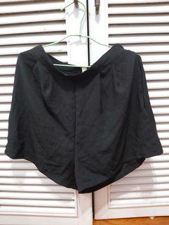 黑色清涼短褲
