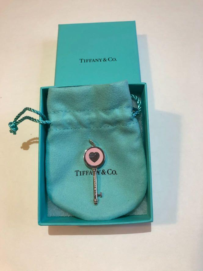 Authentic Tiffany & Co. Sterling Silver Pink Tiffany Key
