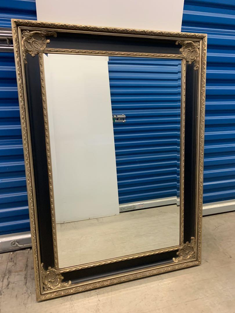 Big mirror with frame