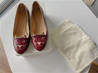 Charlotte Olympia Kitty Flats in size 37.5