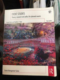 Event Studies by Donald Getz and Stephen J. Page
