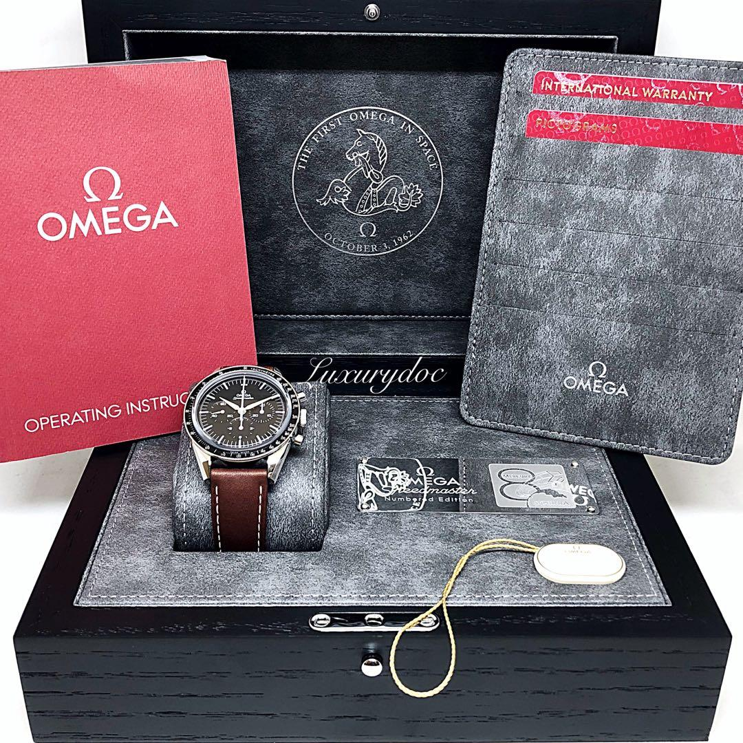 FS.BNIB OMEGA SPEEDMASTER MOONWATCH FIRST OMEGA IN SPACE FOIS NUMBERED EDITION CHRONOGRAPH 39.7MM WATCH 311.32.40.30.01.001