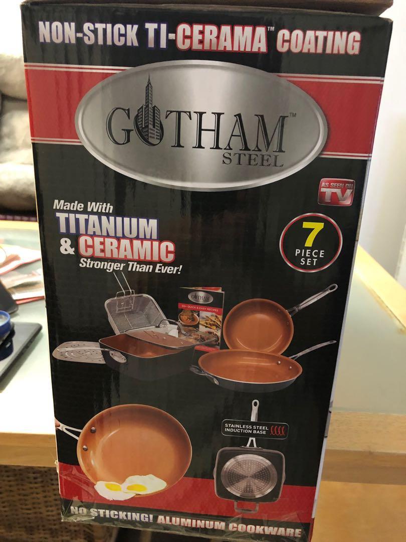 Gotham Steel 7pcs Brand New with Original packing box,$90