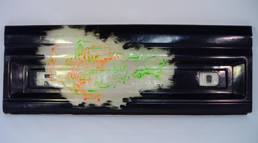Handmade Decorative FORD tailgate black