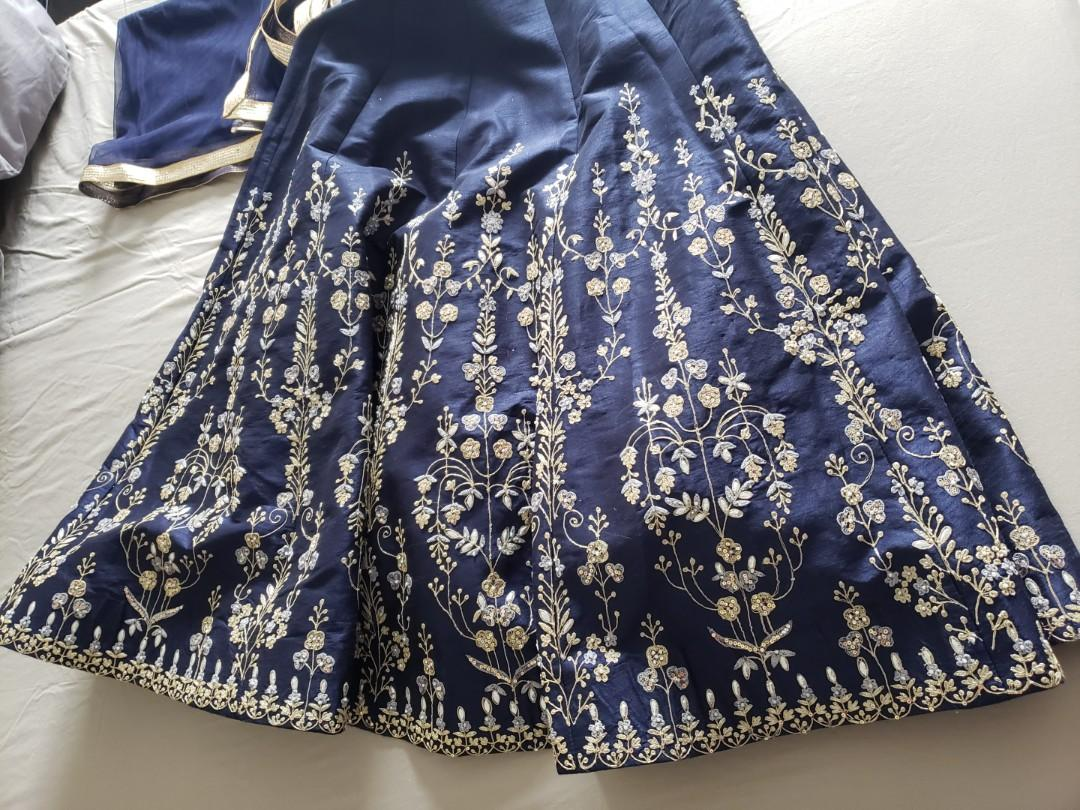 Indian Rhythm Creations Heavy Silk Lengha Skirt and Dupatta