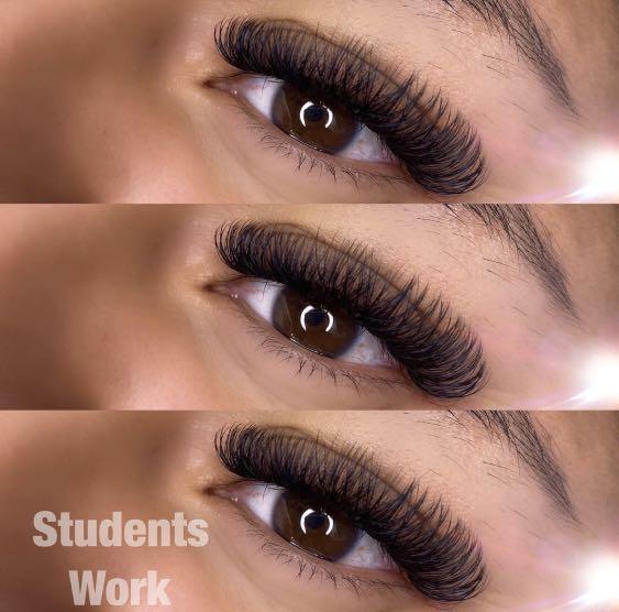 Online eyelash extensions masterclass promotion $550