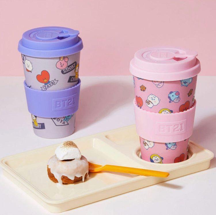 [PROMO RAYA] [BTS] BT21 BABY VER AND NORMAL VER BAMBOOS CUP