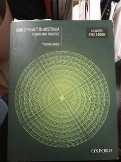 Public Policy in Australia, Theory and Practice by Yvonne Haigh