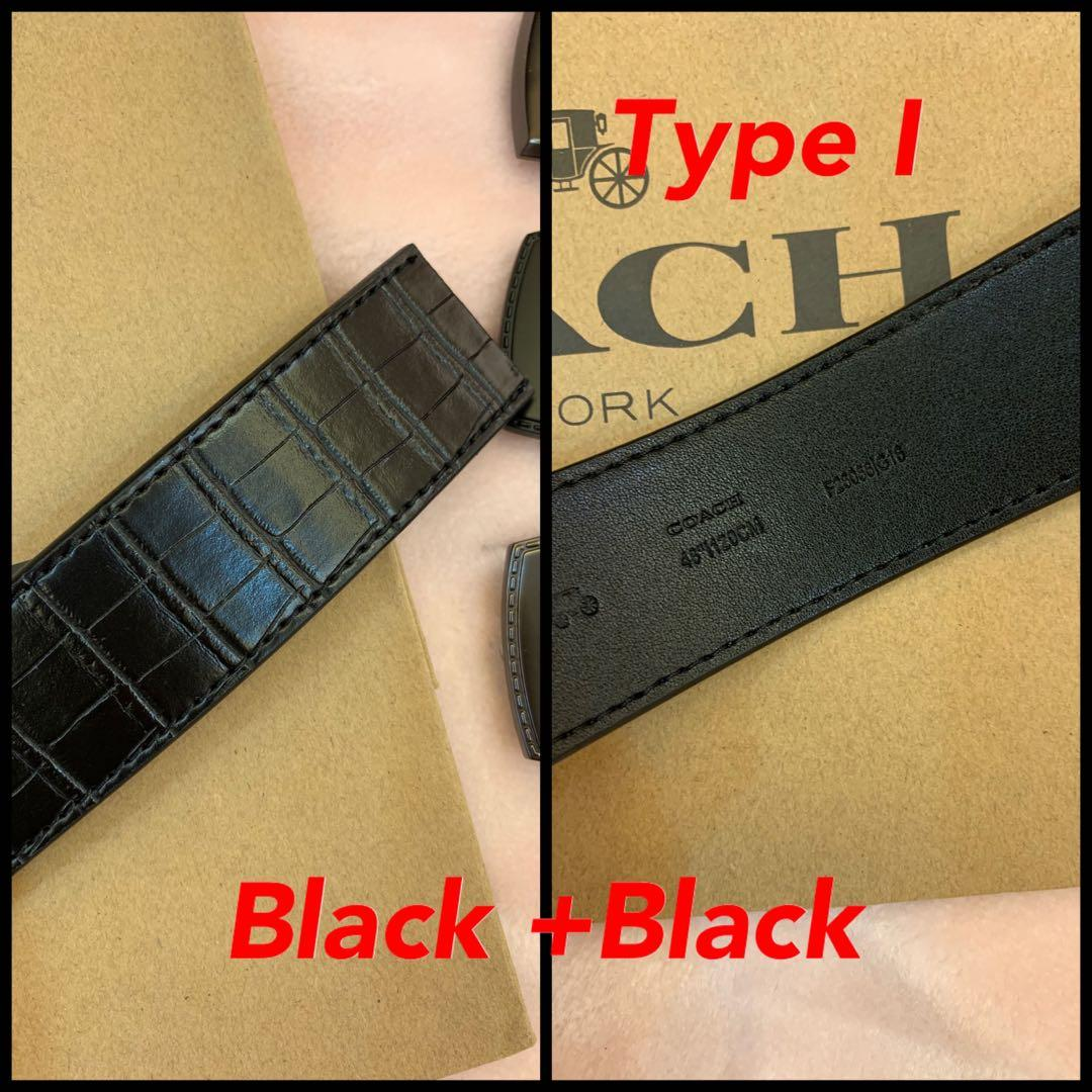 Ready Stock authentic ready stock coach belt reversible leather strap buckle