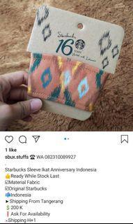 Starbucks Sleeve Ikat Anniversary Indonesia