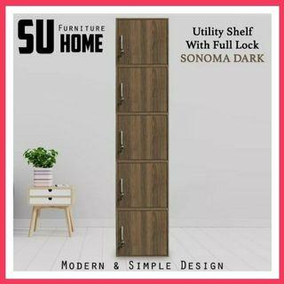 SU500FL 5 Doors Utility Shelf / Storage Cabinet / Filing Cabinet/ Locker with Lock