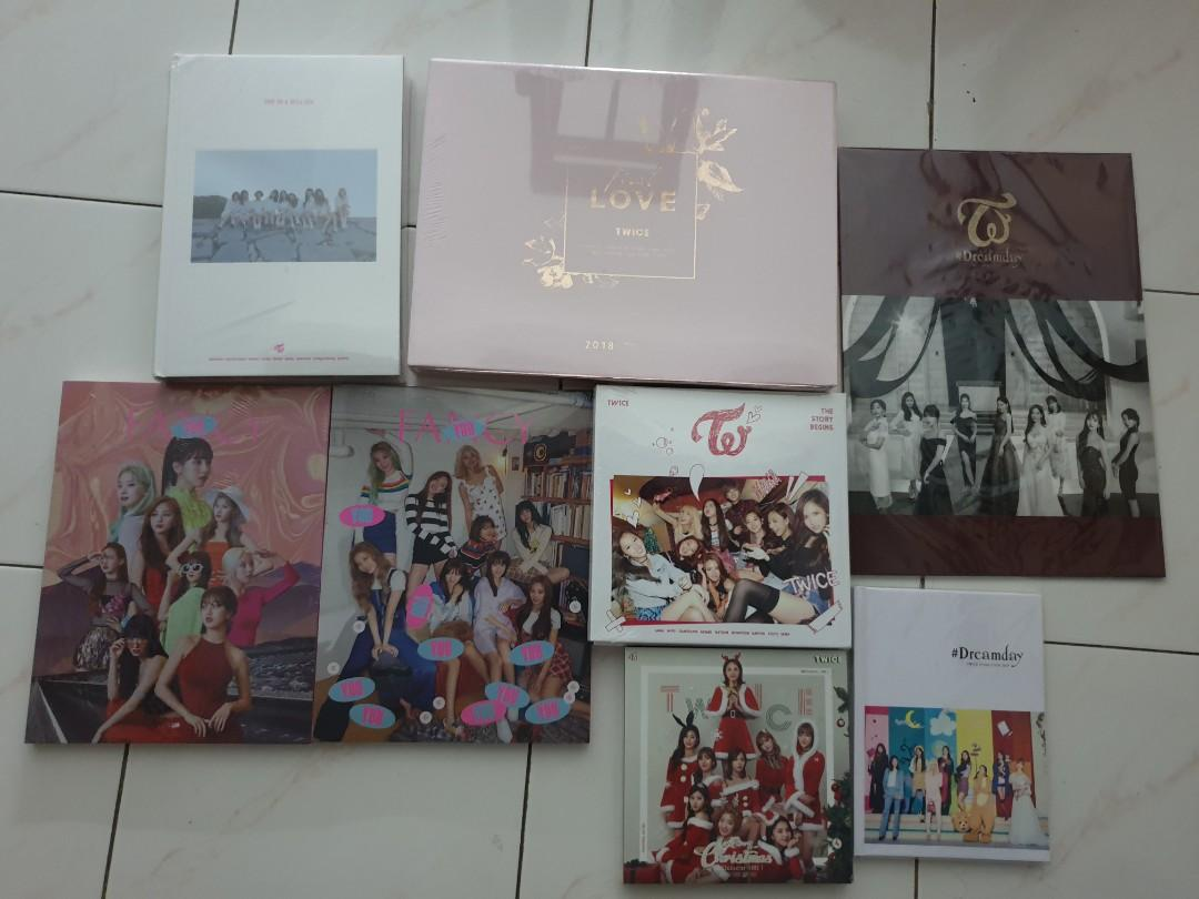 Twice sealed album  (except christmas ver unsealed)