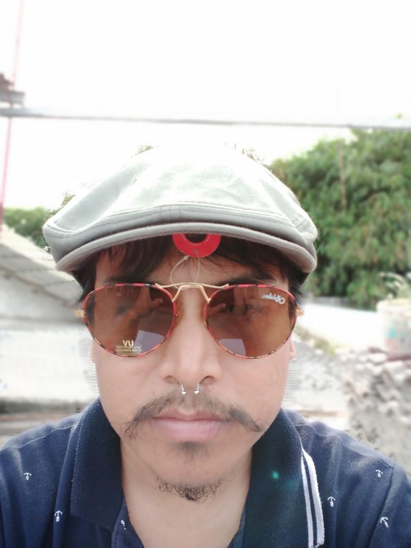 Vintage Sunglasess 70s/John Lennon Vintage Sunglasses Brand: Obliben/Black Panther UV 100%Protection