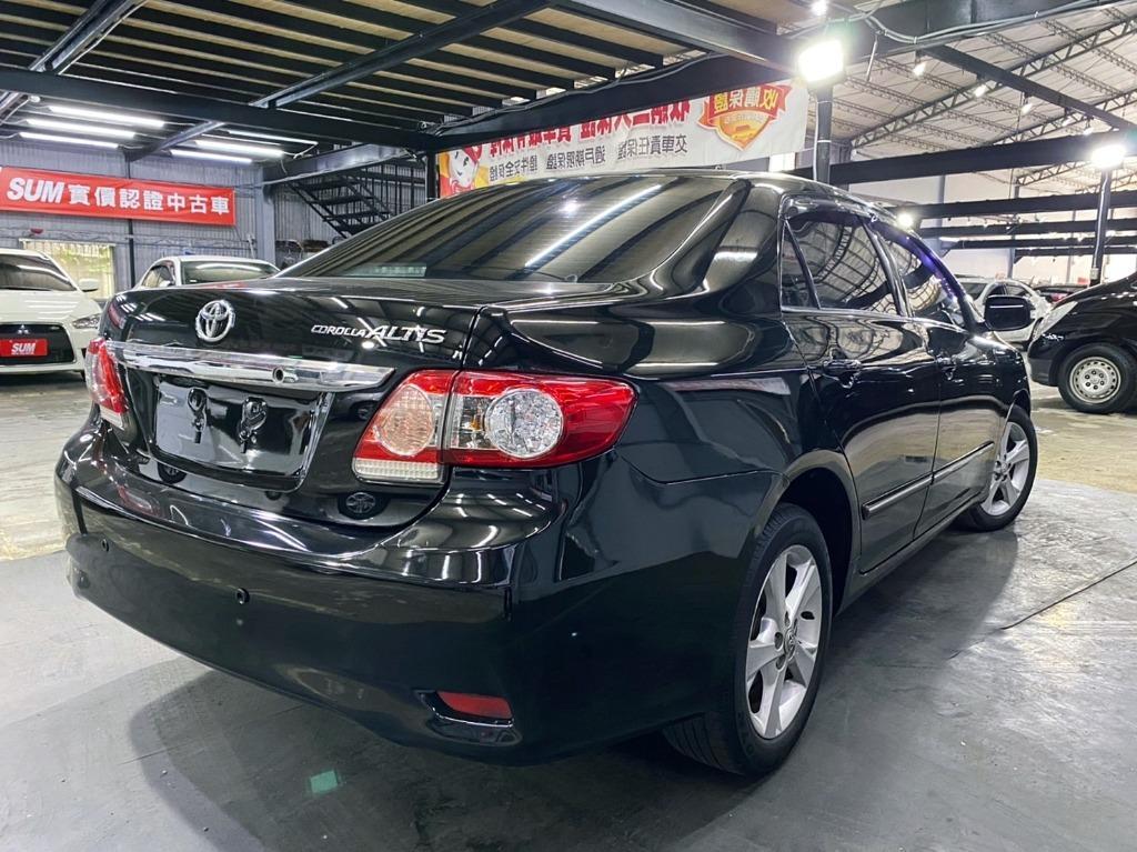 正2011年 頂級 加選配運動版 小改款 Toyota Altis 1.8 G版 曜石黑