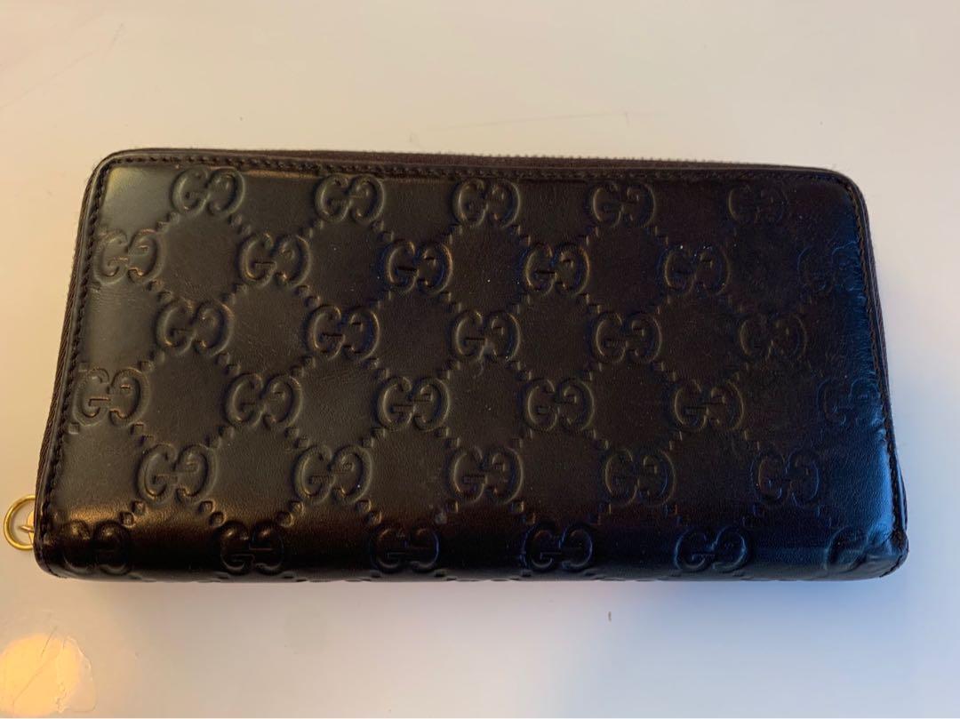 Authentic Gucci wallet dark brown