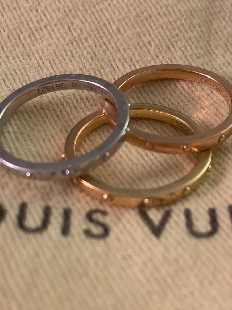 Authentic Louis Vuitton 18K rings