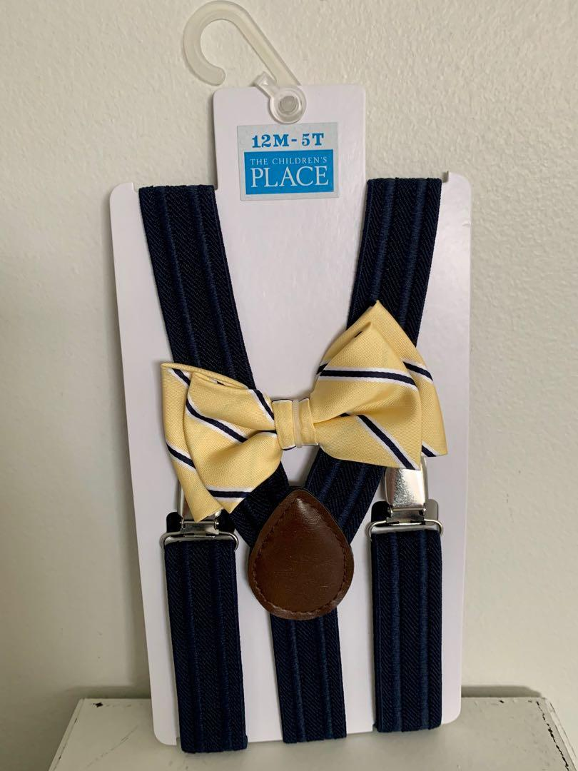 Brand new in packaging toddler boys bow tie & suspenders set