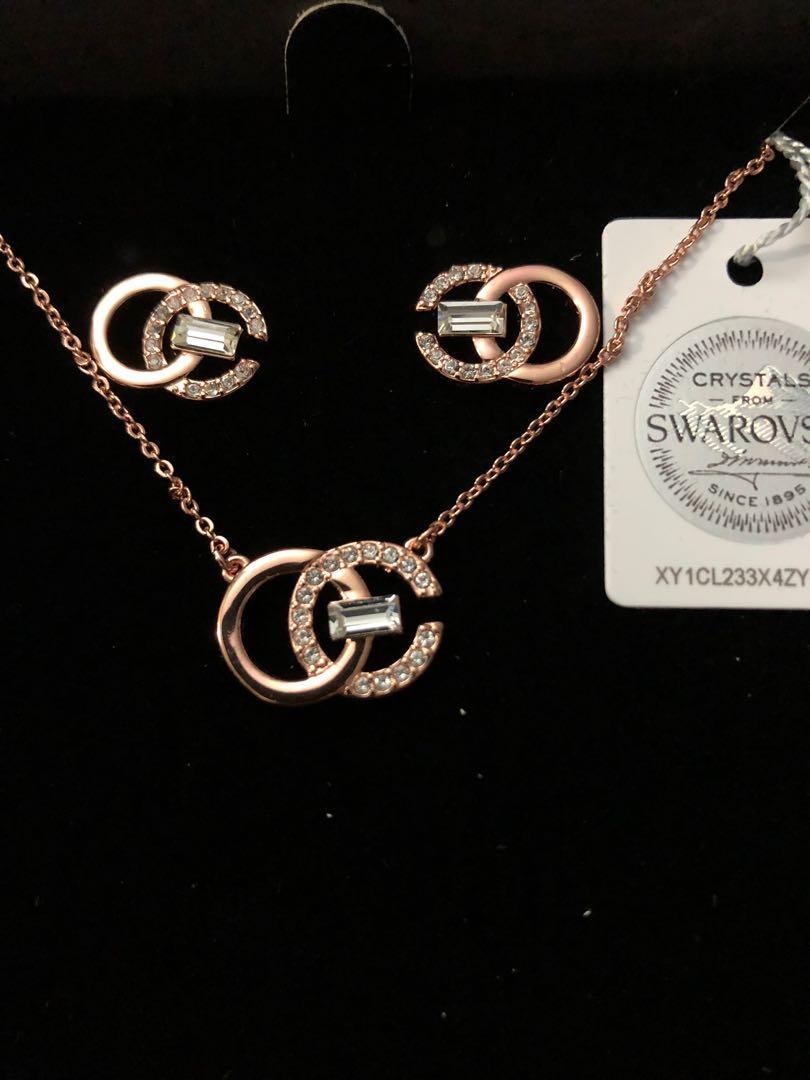Brand New Swarovski  Pendant Necklace & Earring $60