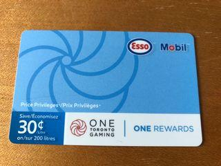 Esso/ Mobil discount Gas cards fuel saving value $60 sell$45