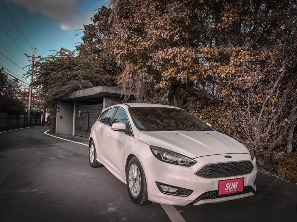【FB搜尋桃園阿承】福特 超人氣FOCUS跑7萬 2016年 1.0CC 白色 二手車 中古車