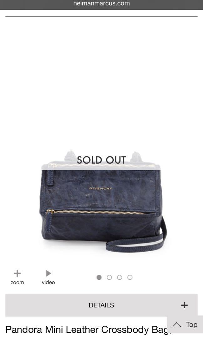 Givenchy mini Pandora in blue old Pepe distressed leather