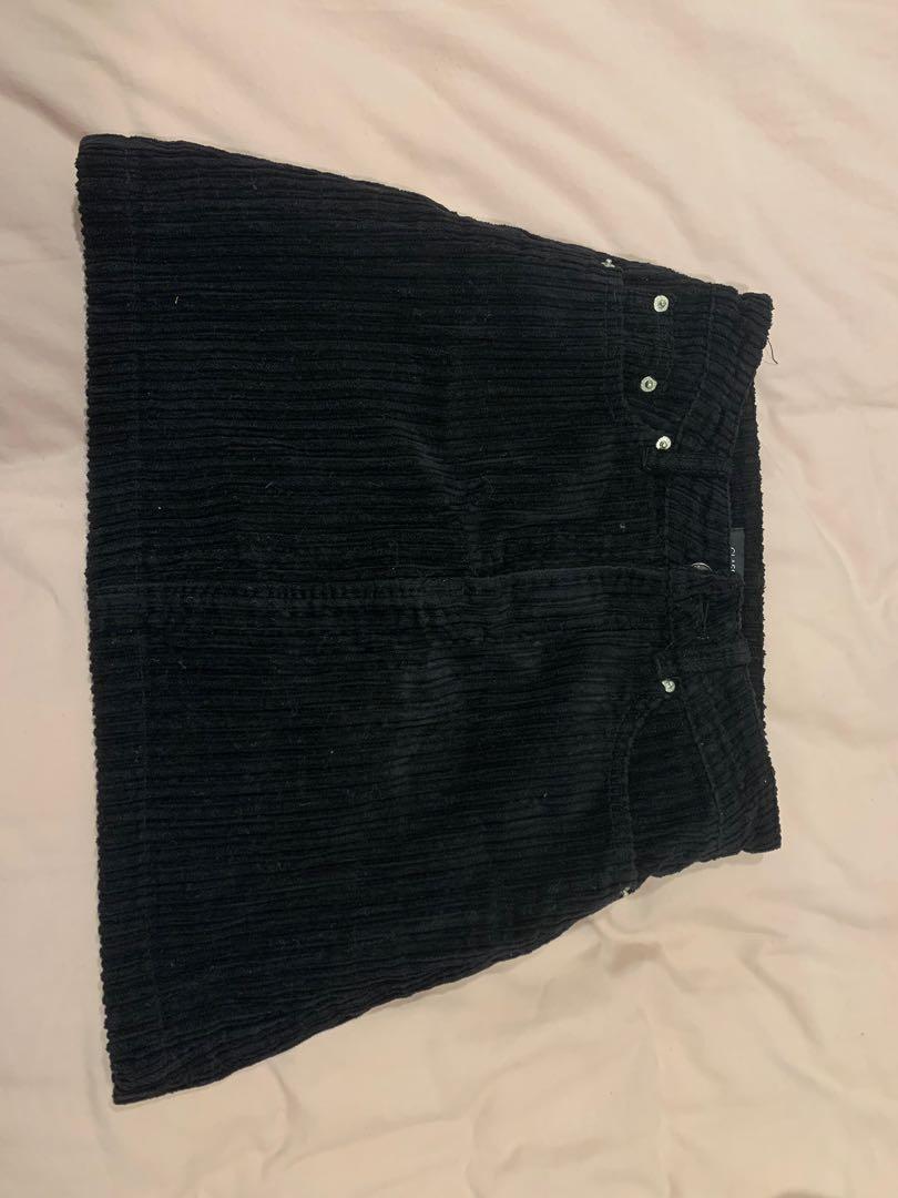 glasson cord mini skirt