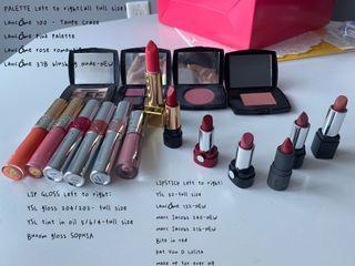 Luxury lipsticks/eyeshadow/blush